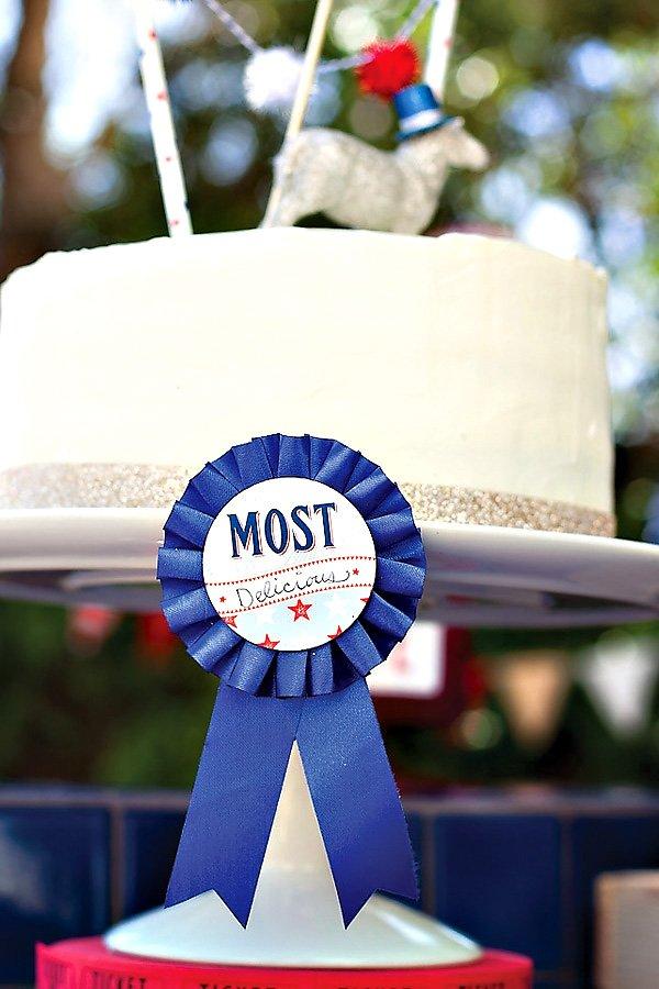 """Most Delicious Cake"" Award Ribbon"