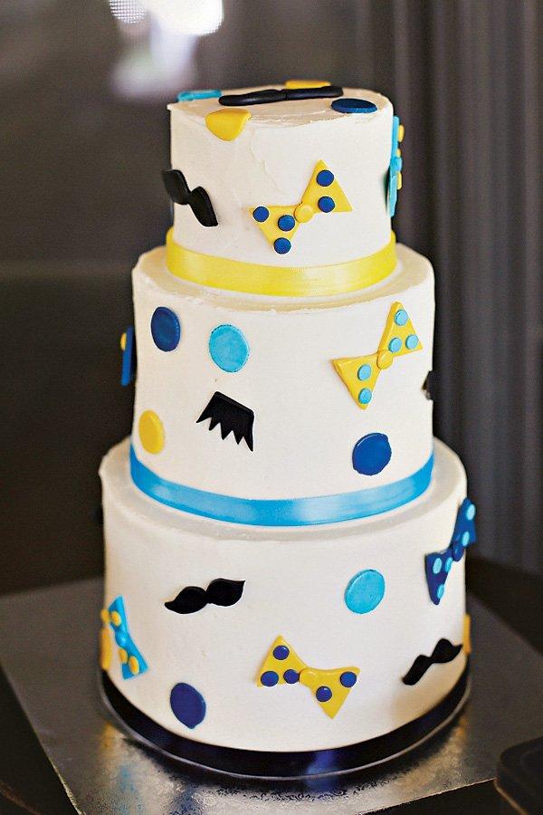 little man first birthday cake