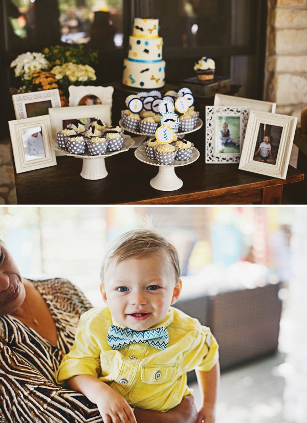 mustache themed dessert table