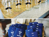 mustache party koozies