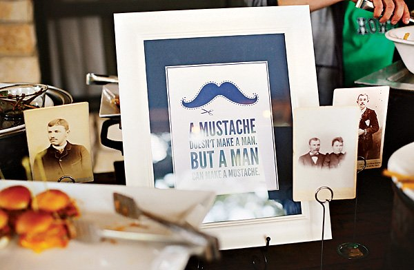 Vintage Mustache party decor