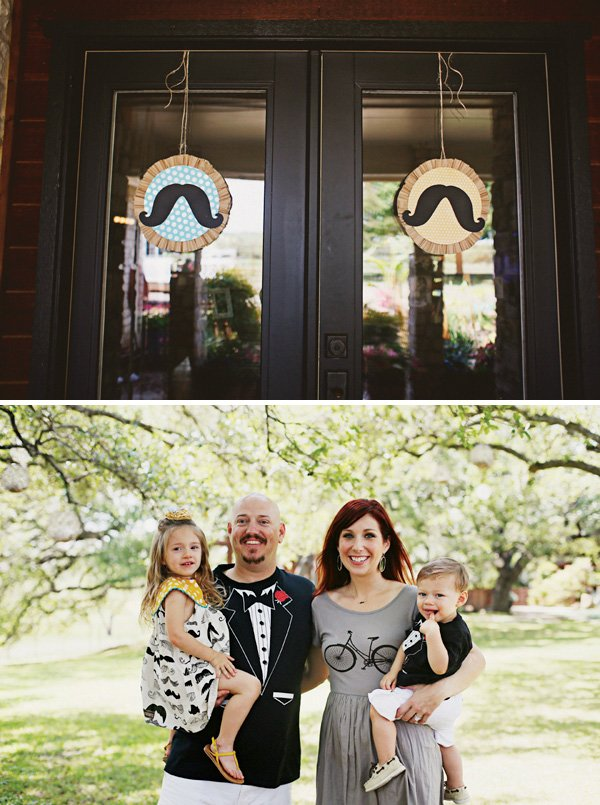 mustache party welcome wreaths