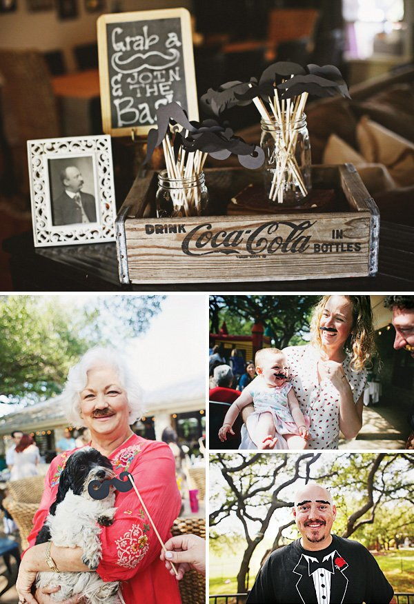 vintage mustache photo booth props