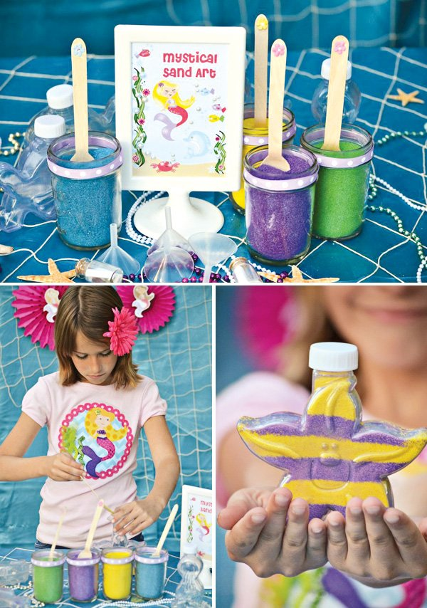 Sand Art Party Activity