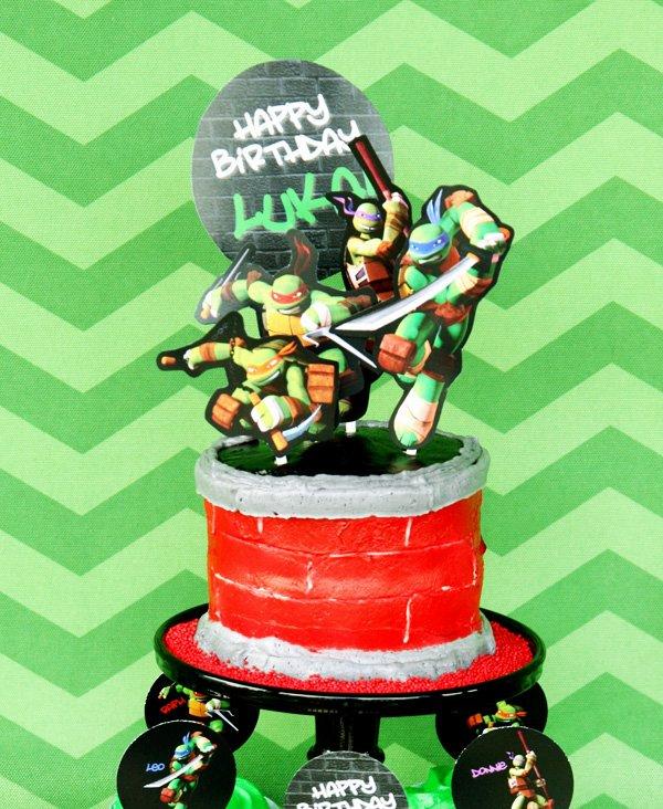 ninja turtle inspired cake