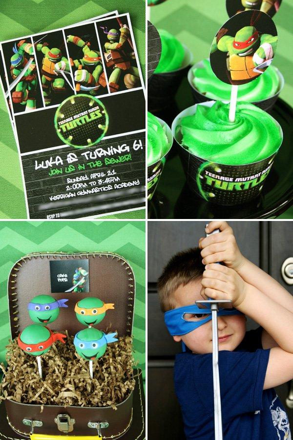 Cowabunga! Teenage Mutant Ninja Turtle Party // Hostess with the ...
