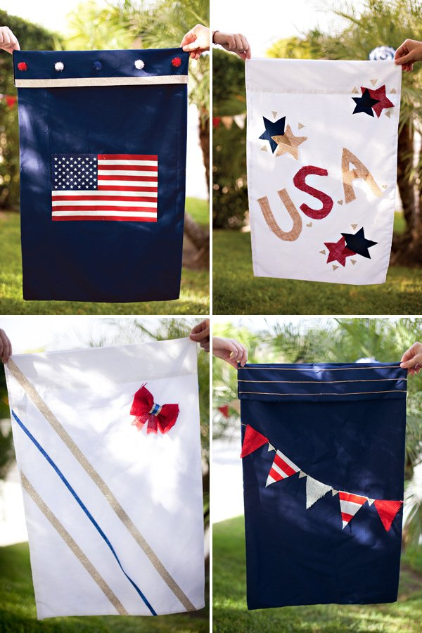 patriotic gunny sacks