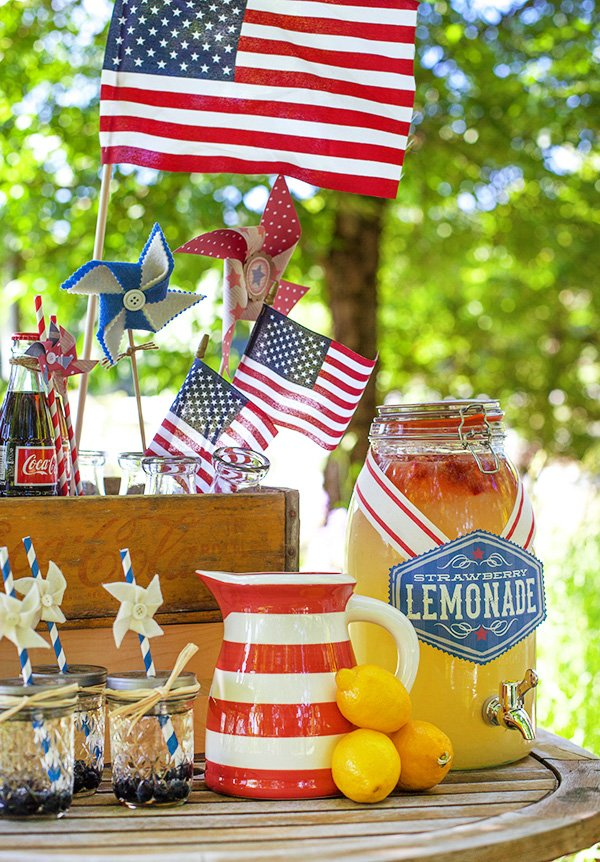 patriotic drink station