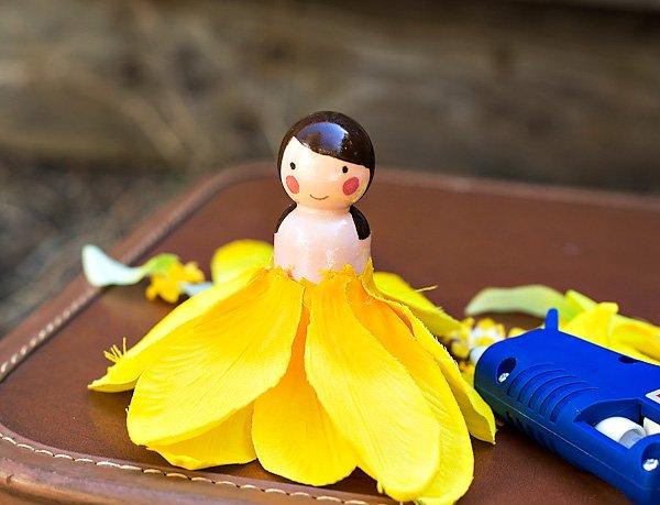 diy wooden peg fairy doll tutorial