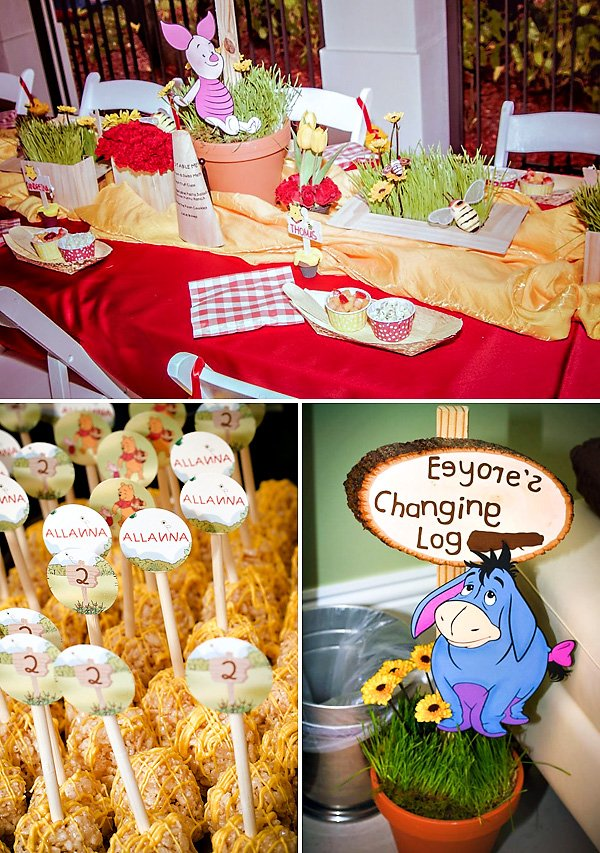 Hundred Acre Wood Winnie the Pooh Birthday Party Hostess with