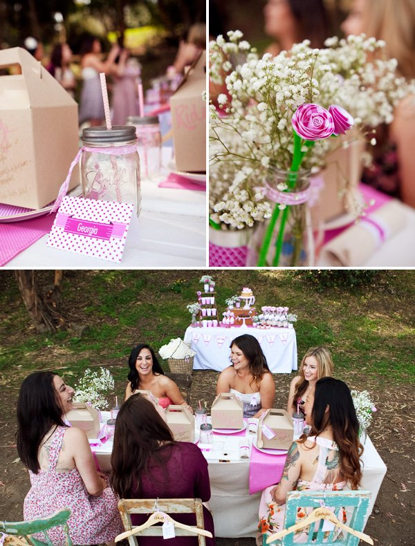 pink bridal shower party ideas