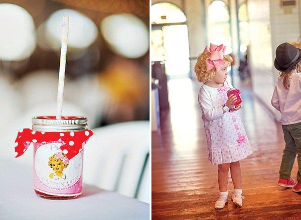 Pink Lemonade in Old Fashioned Mason Jars