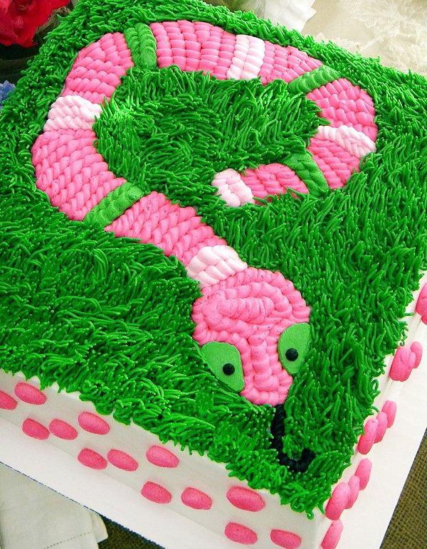 pink snake cake