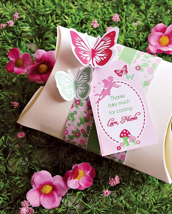 Pink Butterfly Party Favors