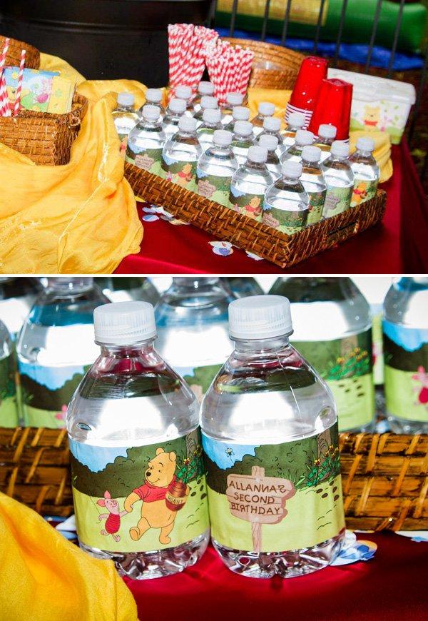 Pooh Bear bottle wrappers