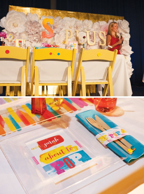 popsicle baby shower tablescape