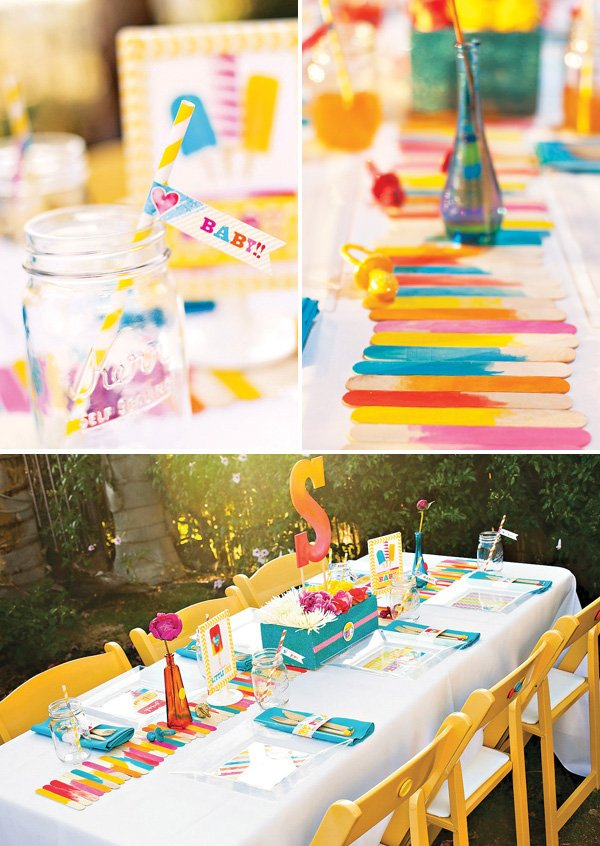 about to pop popsicle themed baby shower table