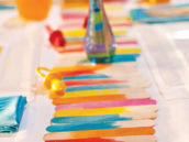 popsicle stick table runner
