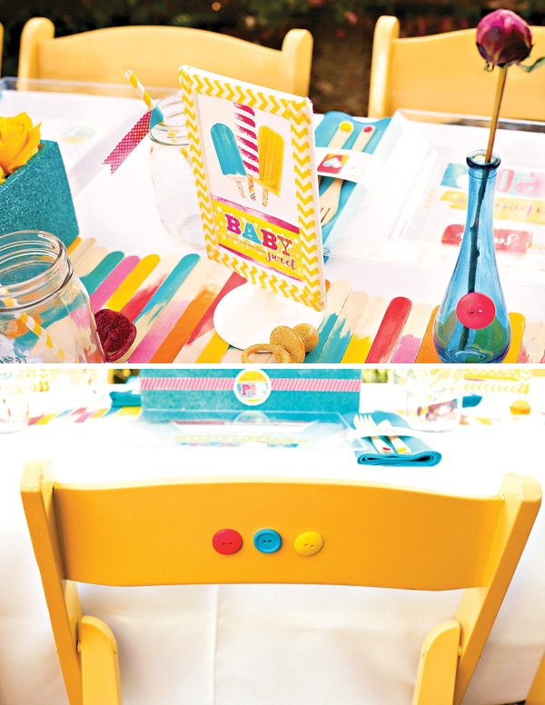 button chair backs and popsicle stick table runner