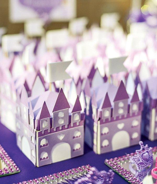 Princess castle favor boxes