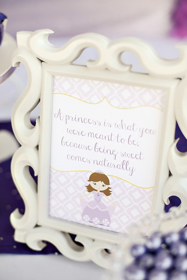 Purple Sofia the First Princess Party // Hostess with the Mostess®