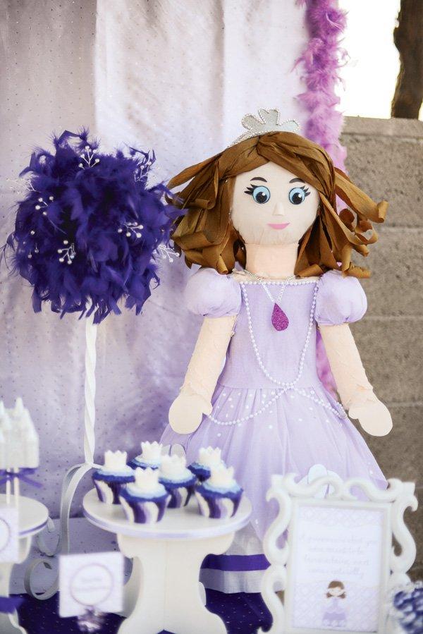 Purple princess pinata