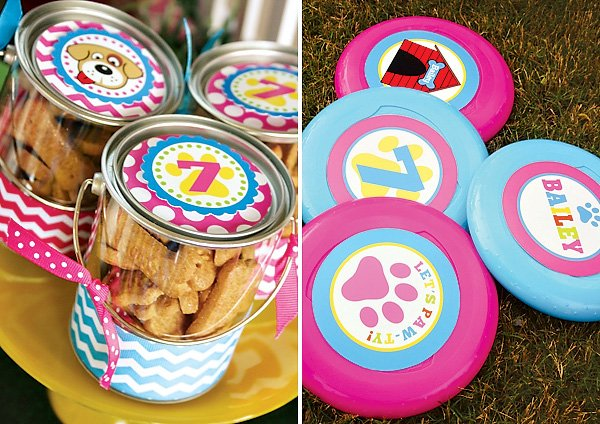 puppy party frisbees