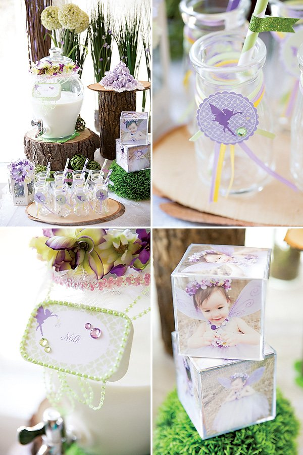purple girly fairy party ideas