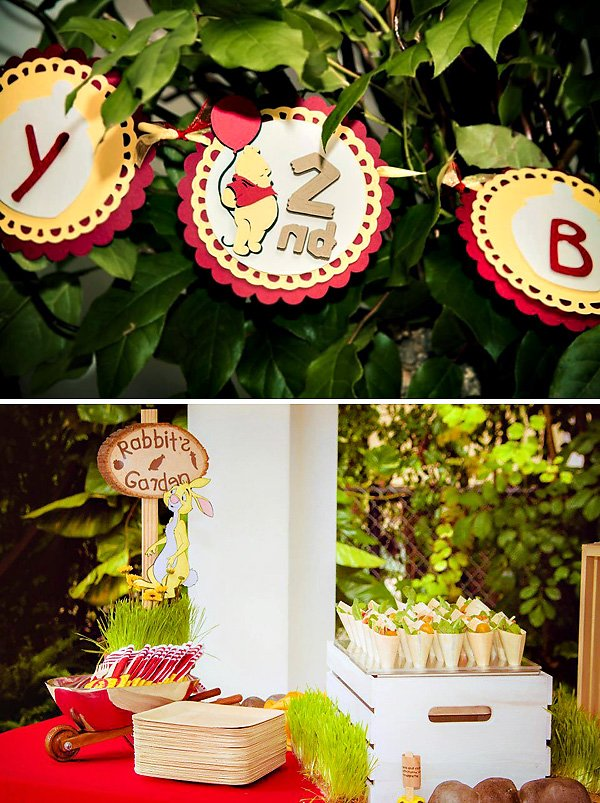 "Winnie the Pooh ""Rabbit's Garden"" snack table"
