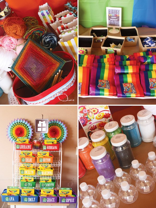Rainbow Craft Party activities