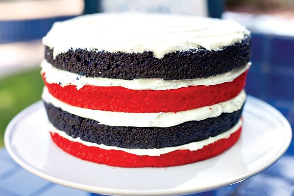 4th of July Patriotic Layer Cake