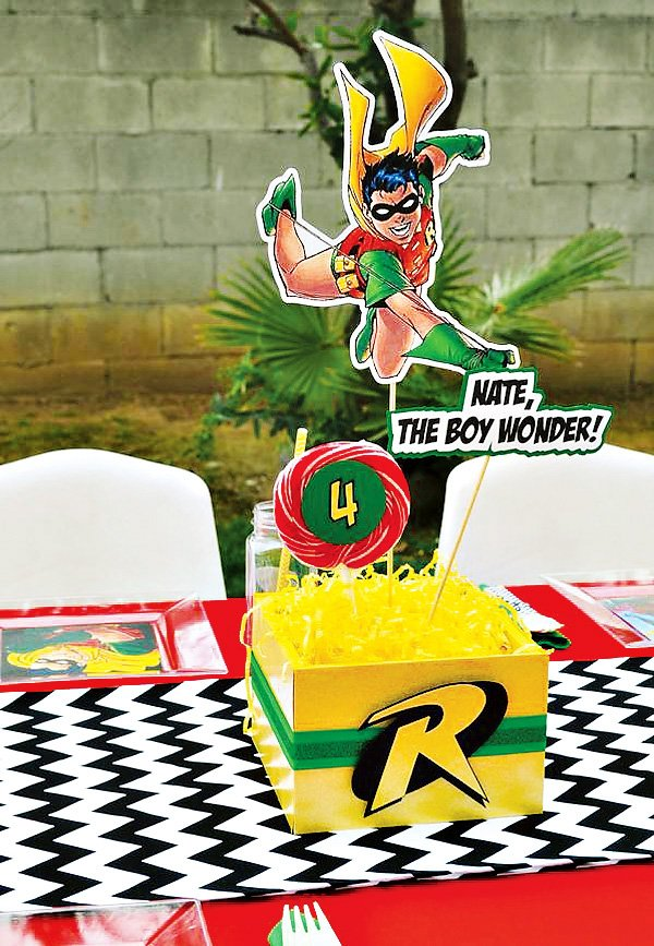 robin the boy wonder centerpieces