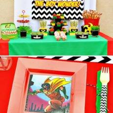 Robin themed dessert table