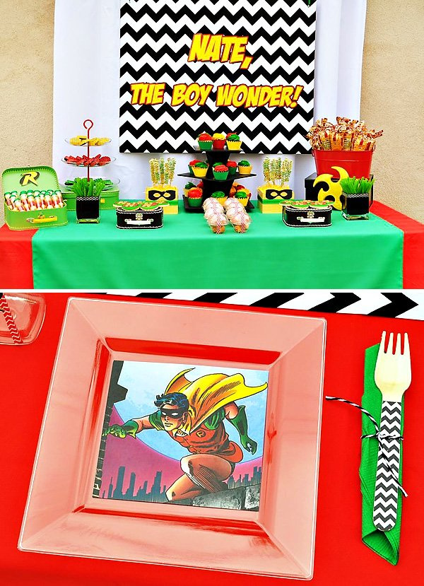 Robin themed dessert table