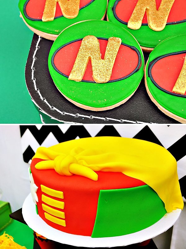 robin the boy wonder themed desserts