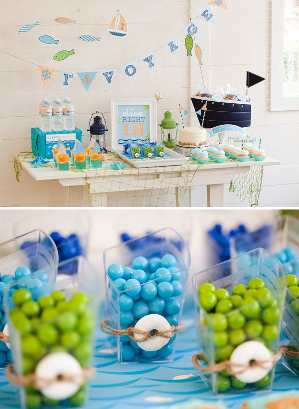 sailor themed dessert table