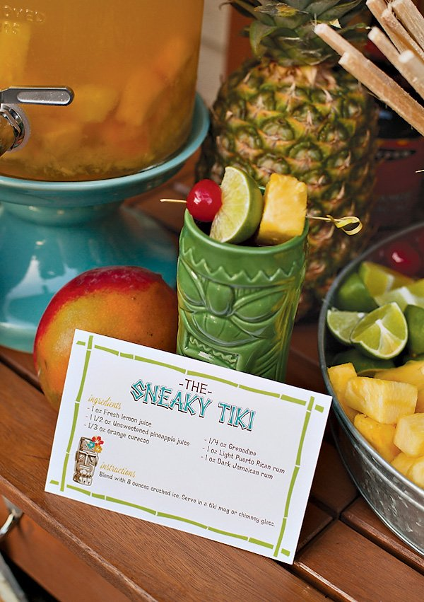 Festive Tiki Time Cocktail Party Drink Recipes