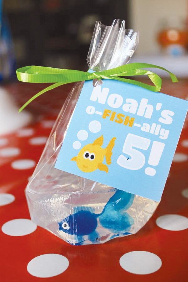"soap ""fish in a bag"" party favors"