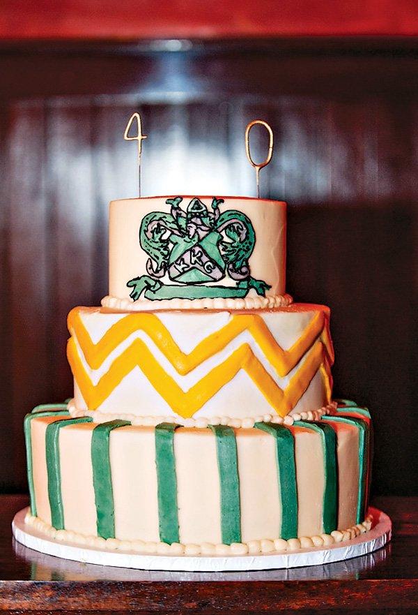 sorority themed cake