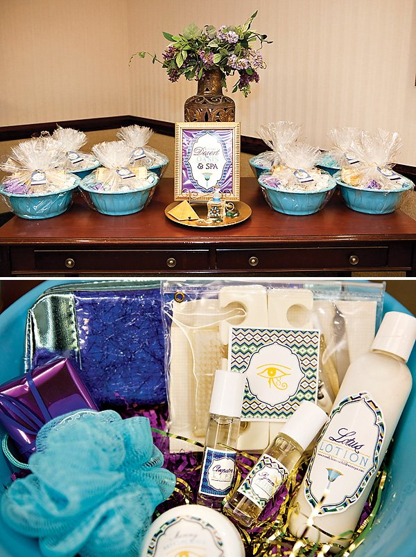 Spa Party Favor Basket ideas