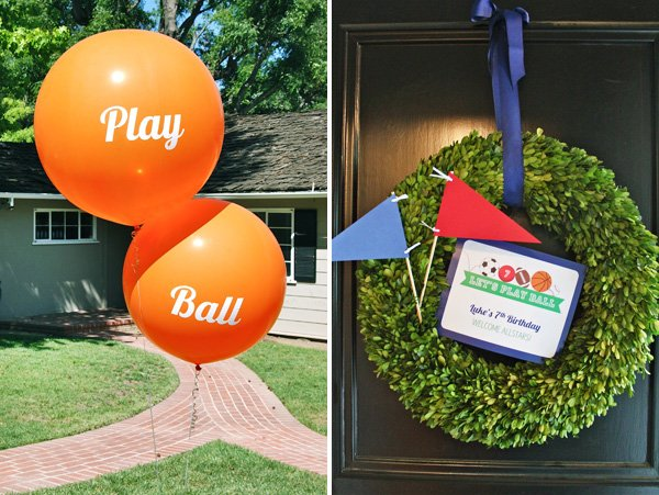 Sporty Welcome Wreath