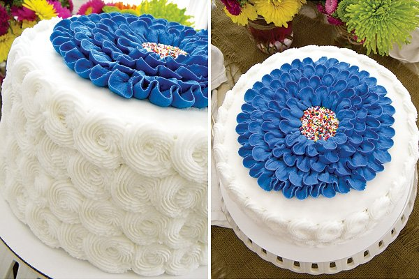 swirl frosted cake
