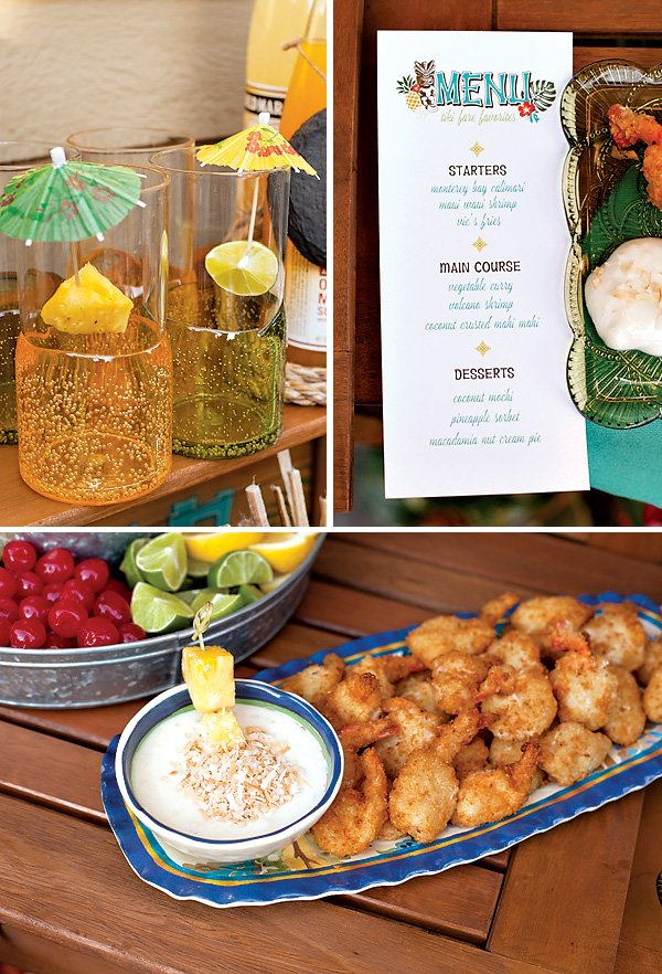 Tiki Party Menu