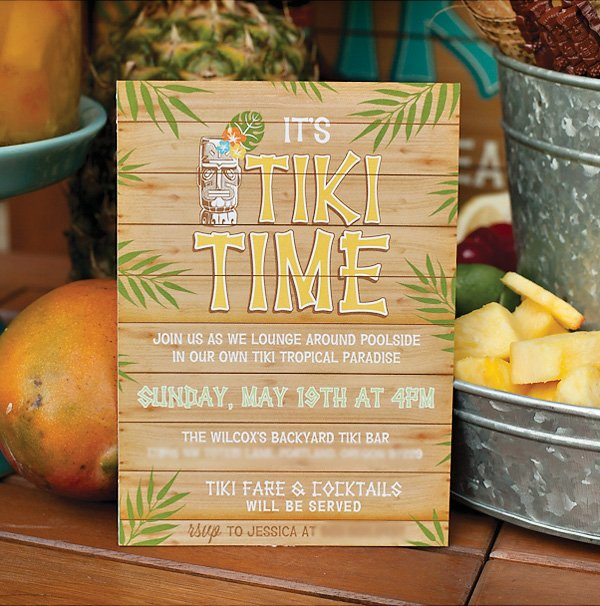 Hawaiian Theme Party Invitations