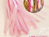 tissue tassel garland diy tutorial - matte & metallic