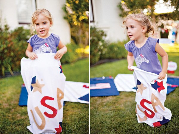 Gunny Sack Races with DIY Gunny Sacks