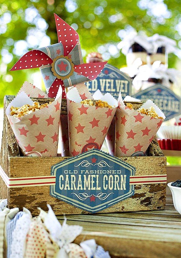 caramel corn paper cones