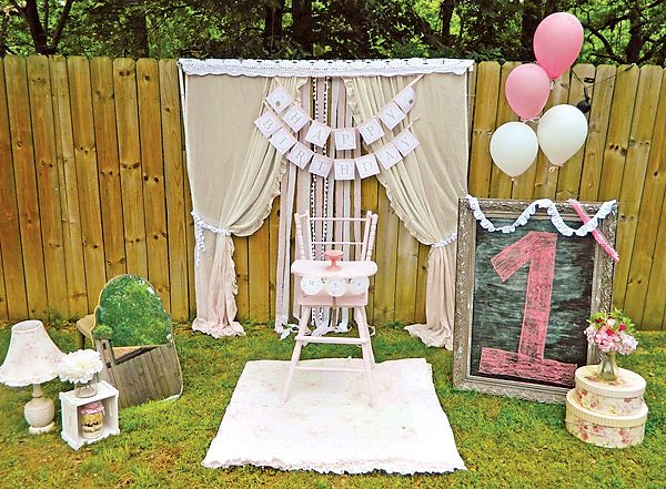 rustic first birthday