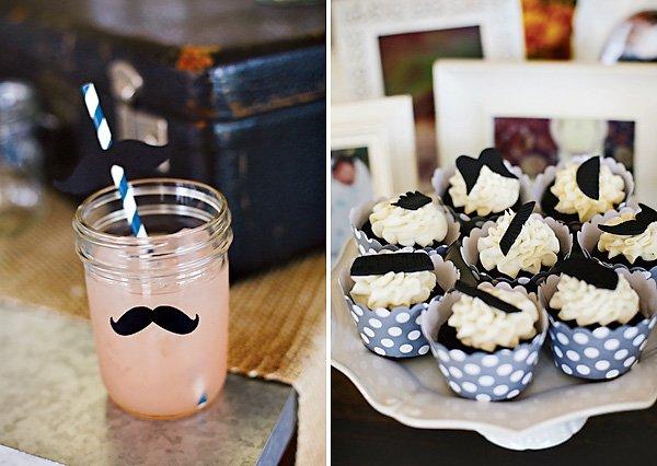 mustache mason jars