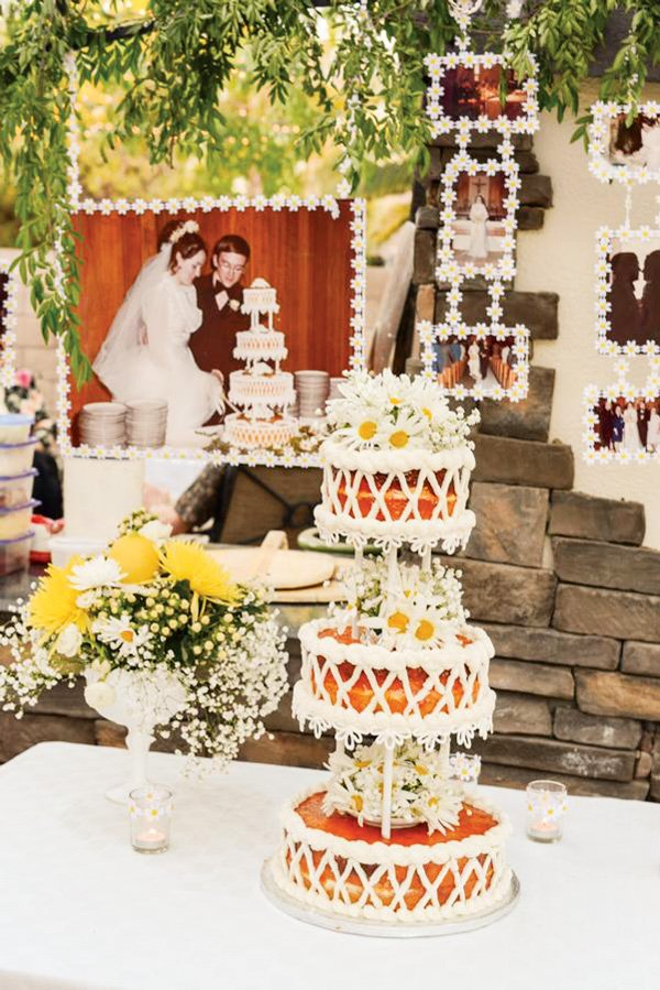 Wedding Cake & Wedding Photo Backdrop